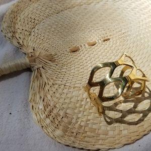 Solid brass cuff bracelet boho chic new